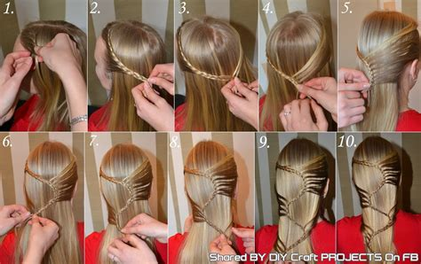 howtodo a twist in thefringe step by step s braid hairstyle step by step diy craft projects
