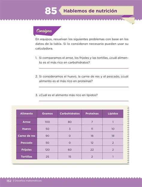 libro de desafios matematicos pagina 134 y 135 de sexto desaf 237 os matem 225 ticos libro para el alumno sexto grado 2016