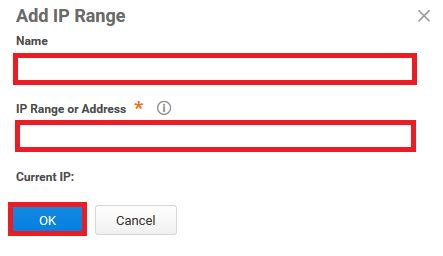 how to add, remove or modify ip address restriction