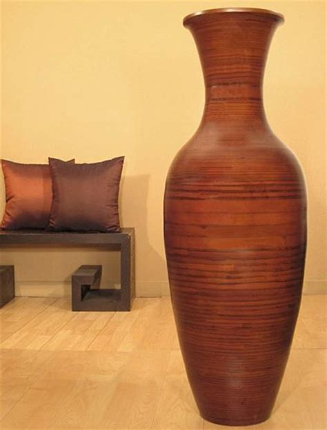 Bamboo Floor Vases by Eco Bamboo Floor Vase Stunning Home Decor