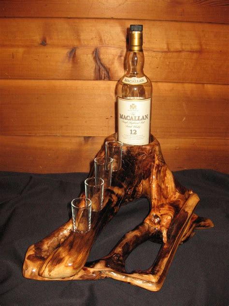 Whiskey Rack by Custom Log Whiskey Rack By Against The Grain Woodworking