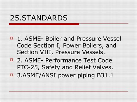 asme boiler and pressure vessel code section viii relief and safety valves for thermal power plants