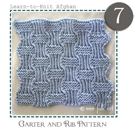 learn to knit in the learn to knit afghan block seven 187 wee folk