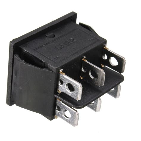 Switch Ac 12 volt 6 pin dpdt power window momentary rocker switch ac 250v 10a 125v 15a alex nld