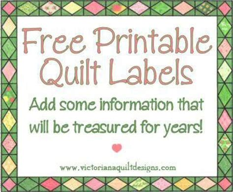 free printable quilt tags free printable quilt labels free downloads of all sorts