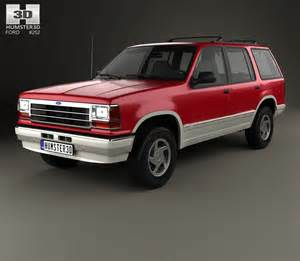 ford explorer 1990 3d model humster3d