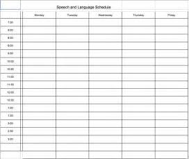 speech schedule template scheduling school speech therapists are the experts the