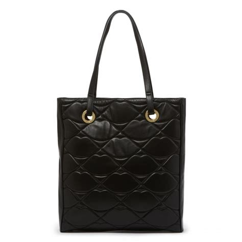 Lulu Guinness Striped Maddy Tote by Lulu Guinness Black Quilted Large Ella Tote In Black