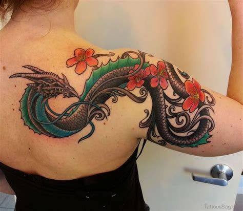 colorful dragon tattoos 80 trendy shoulder tattoos