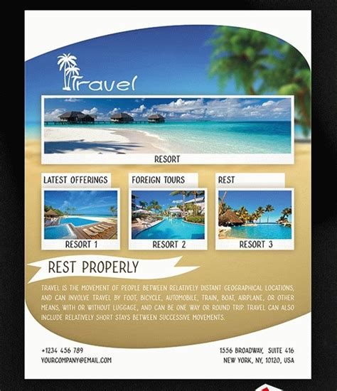 36 Attractive Travel Flyer Templates Creatives Word Psd Ai Eps Vector Travel Flyer Template