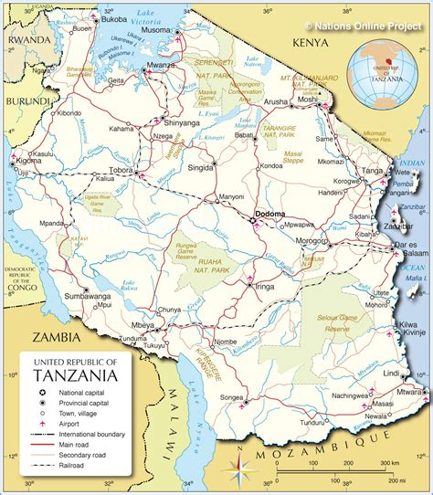 map of tanzania political map of tanzania 1200 px with nations project