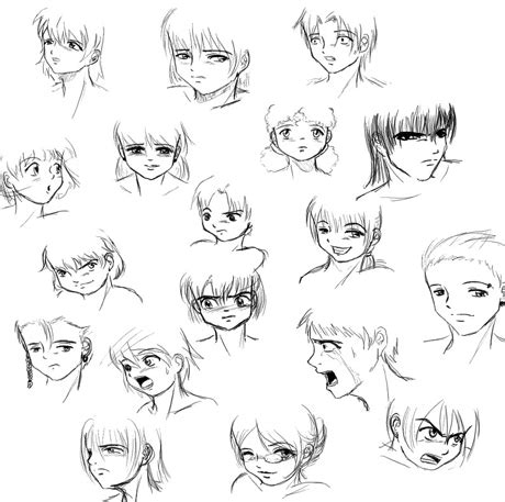easy to draw anime faces emotions step by step guide how to draw 28 emotions on different faces drawing books books warsztaty mangi i komiksu www mdk reda pl