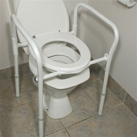 deluxe folding 4 in 1 toilet frame, commode & shower chair