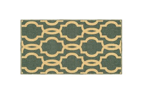 Non Staining Vinyl Backed Rugs by Kapaqua Rubber Backed Mat Fancy Moroccan Trellis Teal Blue