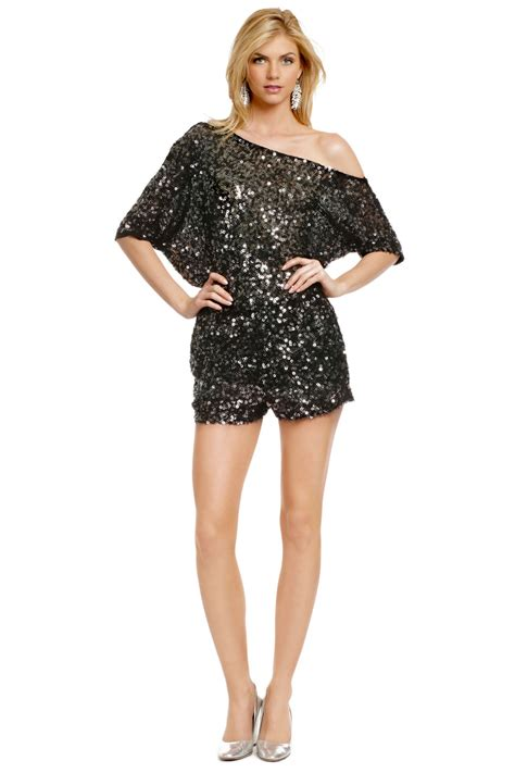 sequin disco romper by robert rodriguez collection for