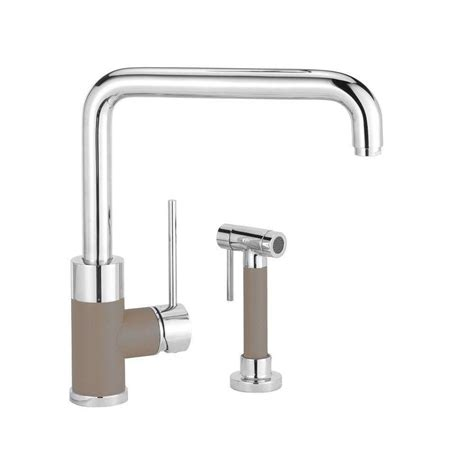 blanco kitchen faucet shop blanco purus i truffle 1 handle handle deck mount