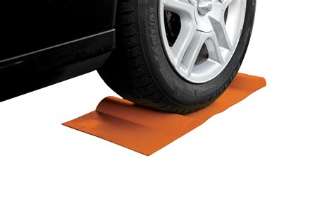 Parking Mat For Garage by Park Right Car Mat Tire Wheel Chock Stops Or Garage Curb