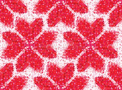 geometric pattern of love seamless love pattern of geometric heart stock photo
