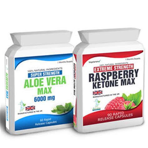 Aloe Diet Detox by 90 Raspberry Ketone Plus 60 Aloe Vera Colon Cleanse Weight