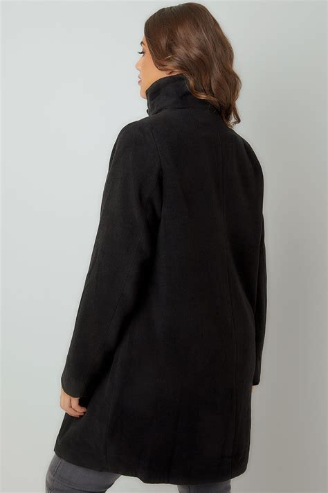 Asda Gift Card Register - black biker style coat with pu trim plus size 16 to 36