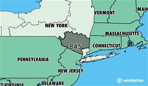 map of new york area where is area code 845 map of area code 845