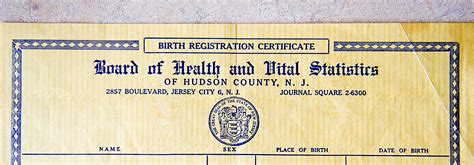 Jersey City Birth Records Here S Why Genealogists Can T Get Birth Certificates In Jersey City Genealogy Nj