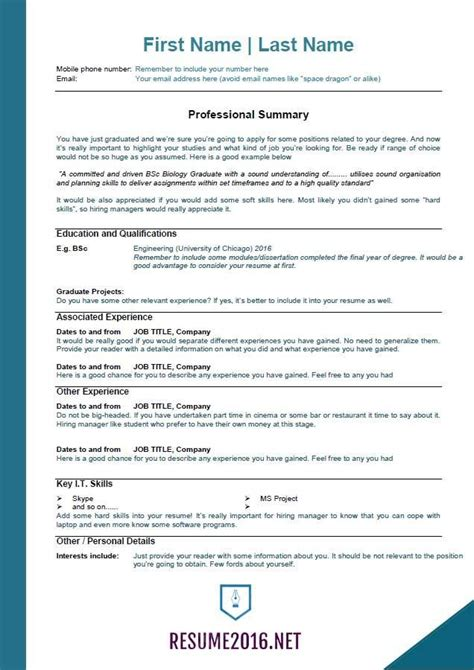 Flawless Resume Exles 2016 2017 Resume 2016 Professional Resume Template 2016 Best Best Resume Template 2016