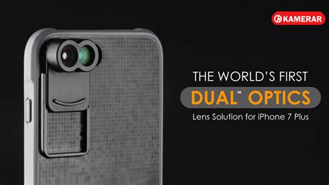 the kamerar zoom lens kit a removable dual lens system for the iphone 7 plus cinema5d