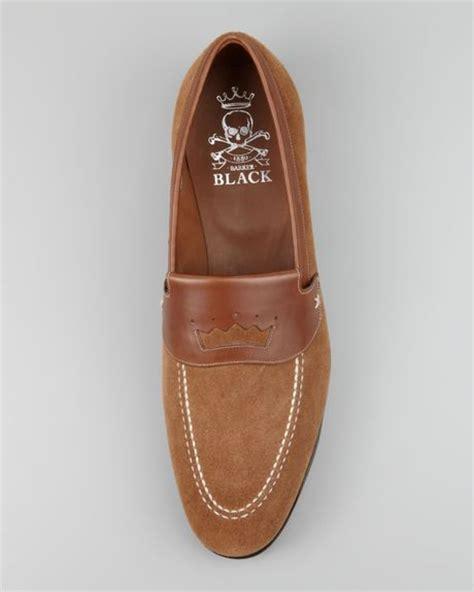 barker black loafers barker black houghton suede loafer in brown for camel