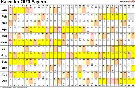 Kalender 2021 Bayern Kalender 2020 Bayern Ferien Feiertage Pdf Vorlagen