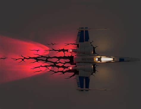 wars 3d deco light wars x wing 3d deco light wars