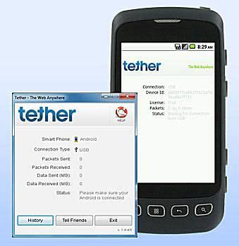 how to tether android apps to tether your android phone and use it as a modem
