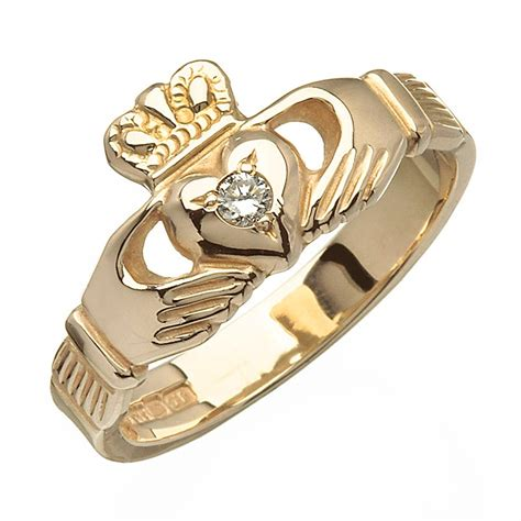 gold claddagh ring with blarney 14k gold