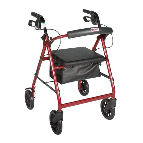drive 4 wheel walker with seat drive 4 wheel rollator walker with removable back support