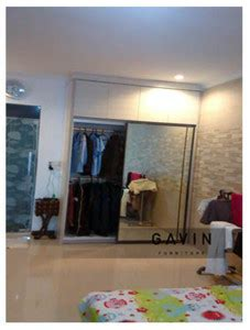Cermin Gede lemari pakaian sliding dengan cermin di pondok gede