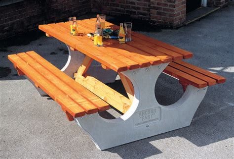 concrete picnic table and benches timber and concrete outdoor furniture s zone
