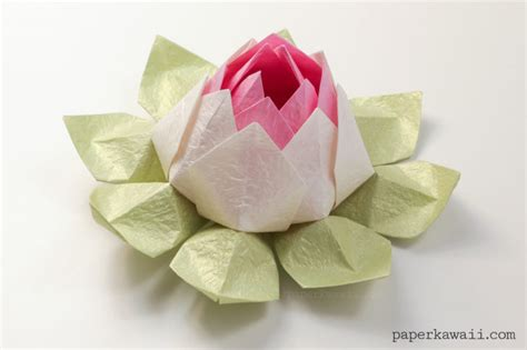 modular origami lotus flower tutorial paper kawaii