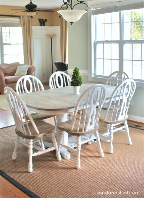 Redone Kitchen Cabinets by How To Refinish A Table Sand And Sisal