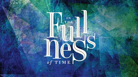 Jonathan Hooper In The Fullness Of Time Sermon Series