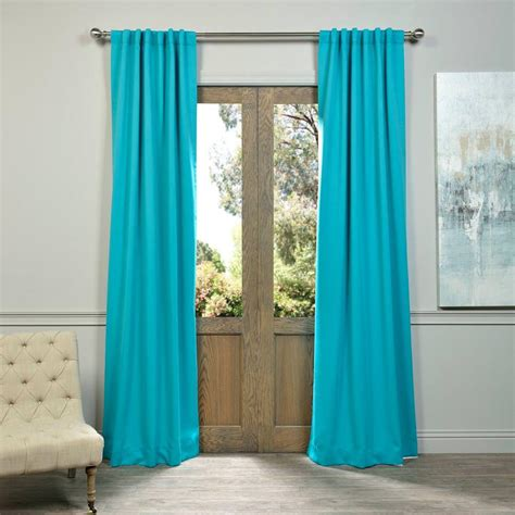 Aqua Blackout Curtains Exclusive Fabrics Furnishings Turquoise Blue Blackout Curtain 50 In W X 108 In L Pair