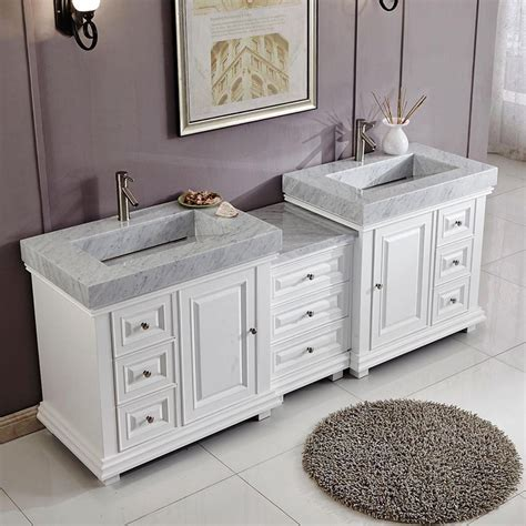 white sink vanity 90 quot modern bathroom vanity white