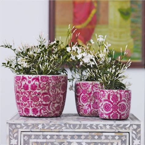 Unique Indoor Planters by Vintaged Rose Plant Pots Eclectic Indoor Pots And
