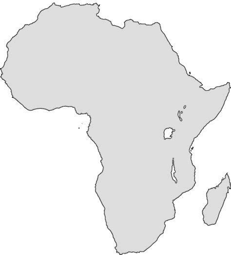 36 best africa map outline images on blank map africa clipart best