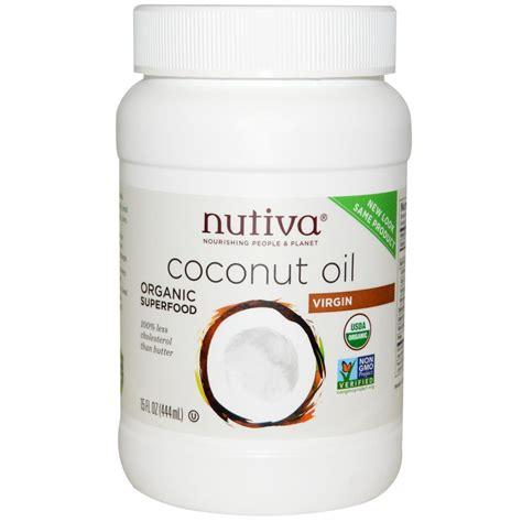 coconut oil nutiva organic coconut oil virgin 15 fl oz 444 ml