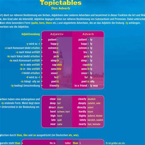 englisch wann adverb wann adjektiv topictables englisch adjektiv adverb dnf verlag