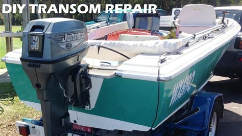 boat transom repair made easy diy lake life - Diy Boat Repair