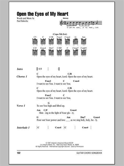 Open My Eyes Lord Guitar Chords Image collections - guitar chords ...