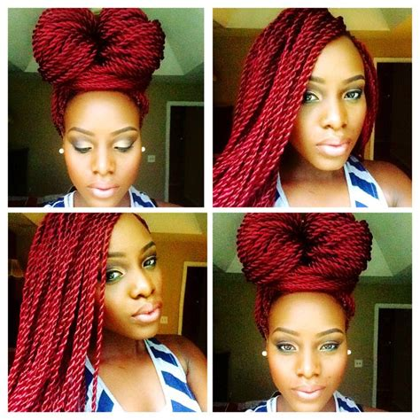 red senegalese twist red senegalese twist hairstyles pinterest