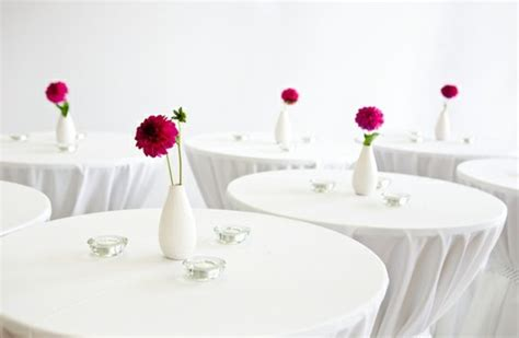simple and single dahlia wedding centerpieces