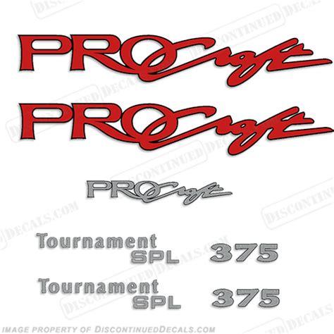 procraft boat decals procraft tournament spl 375 decal package